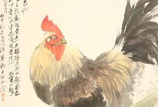 画家宋柏松画鸡迎鸡年