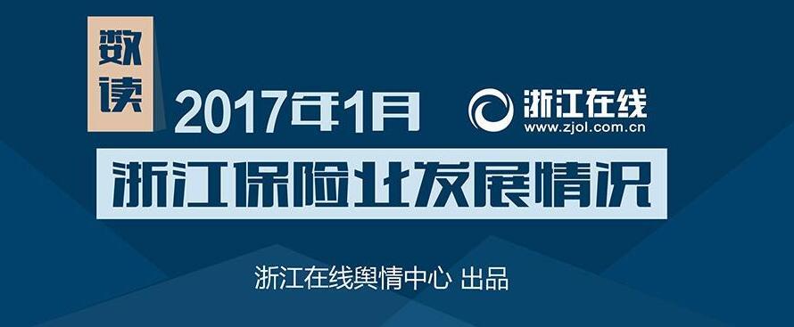 数读:2017年1月浙江保险业发展情况