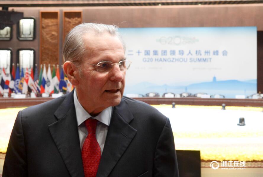 国际奥委会名誉主席罗格现身杭州