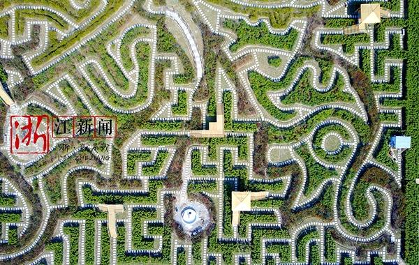 铁手航拍|世界最大花园迷宫将在宁波开园 全场12公里