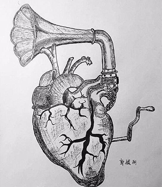 人体解剖学绘图比赛参赛作品.-医学生们真会玩 女大学生的课堂笔