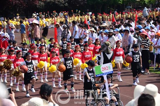 杭城一小学运动会带来视觉盛宴