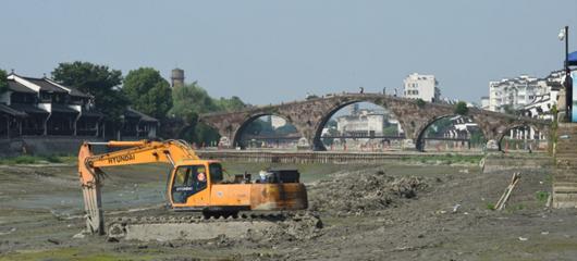围堰古桥 疏浚治理