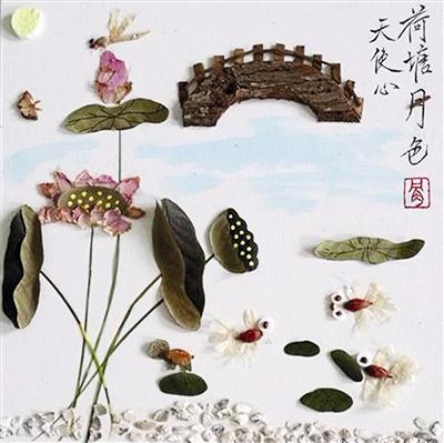 你才能发现,每一幅画里的每一个元素,都是中草药:绽放的梅花,是