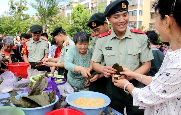 邻里聚一堂 社区飘粽香 福明家园社区喜迎端午佳节