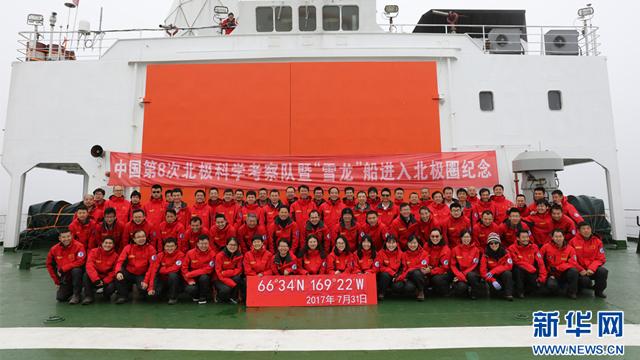 中国第八次北极科考进入北极圈