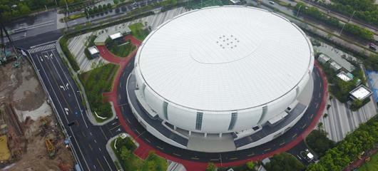 """江南岸添""""白瓷盖碗"""" 杭州滨江体育馆落成"""
