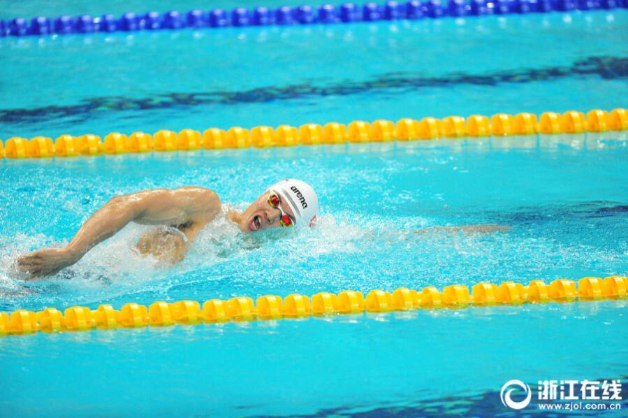 浙江选手汪顺400米混合泳夺冠