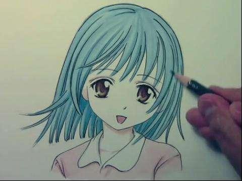 """15岁""""漫画少女""""一幅普通的画竟卖到千元"""