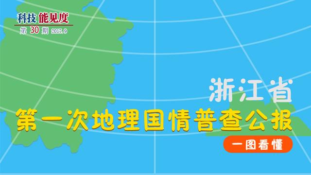 【科技能见度】第30期:一图看懂《浙江省第一次地理国情普查公报》