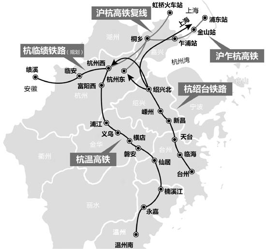 坐拥11条高铁6大车站 未来杭州地铁高铁无缝换乘