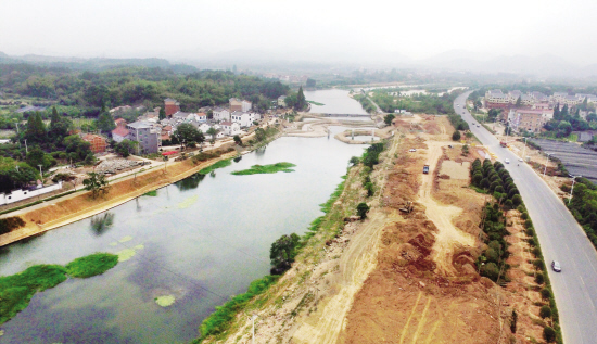 金华梅溪打造最美景观廊道