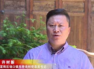 东梓关村党总支书记许时新:望得见山、看得见水、记得住乡愁