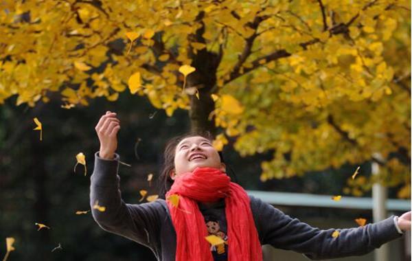 人在画中 画在心中 宁波校园秋色正浓