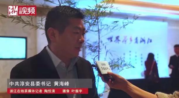 淳安县委书记黄海峰:千岛湖茶借力旅游资源走出去