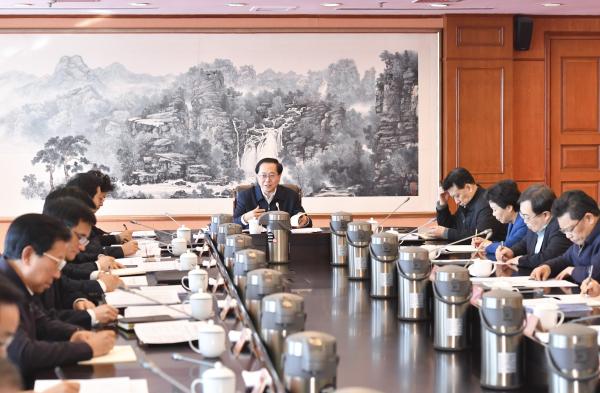 """省委常委会议传达学习习近平""""1・5""""重要讲话精神"""