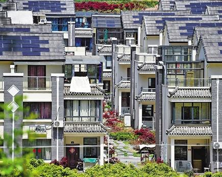 宁波市海曙区李岙村屋顶光伏电站产出清洁能源