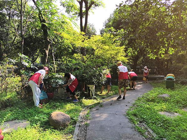 华星社区 开展翻盆倒灌、清除积水大行动