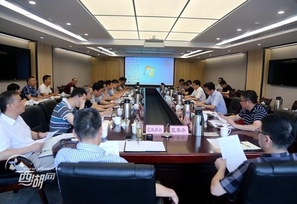 20180821(视频)章根明在铜鉴湖防洪排涝调蓄工程第十四次推进会上强调