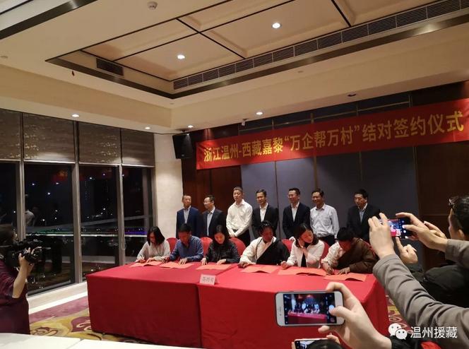温州与嘉黎签约 500多万创业就业脱贫基金成立